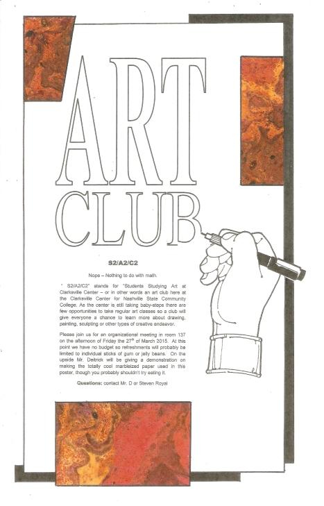 2015-03-03 NSCC Art Club Poster 2